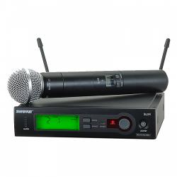 Shure - Shure SLX24 / SM58 Tek El Telsiz Kablosuz Mikrofon
