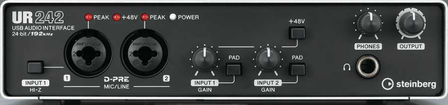 STEINBERG UR 242 - DSP'li USB 2.0 Ses Kartı