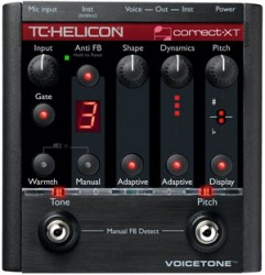 TC Helicon - TC HELICON VoiceTone Correct XT - Detone düzeltme, EQ, Gate, Compressor, De-esser Pedal