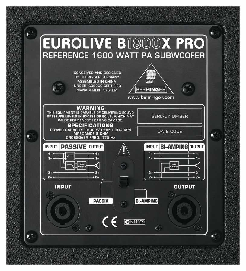 Behringer Eurolive B1800X PRO 1800 Watt Pasif Subbass