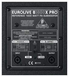 Behringer Eurolive B1800X PRO 1800 Watt Pasif Subbass - Thumbnail