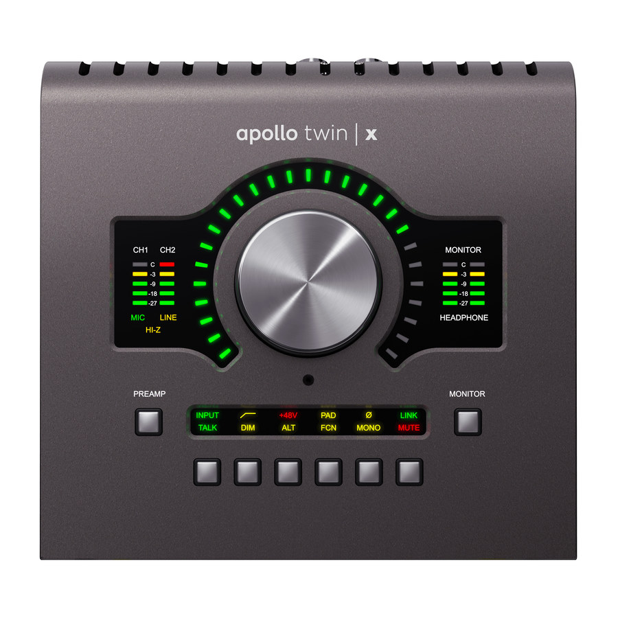 UNIVERSAL AUDIO Apollo Twin X Duo DSP'li Thunderbolt 3 Ses Kartı
